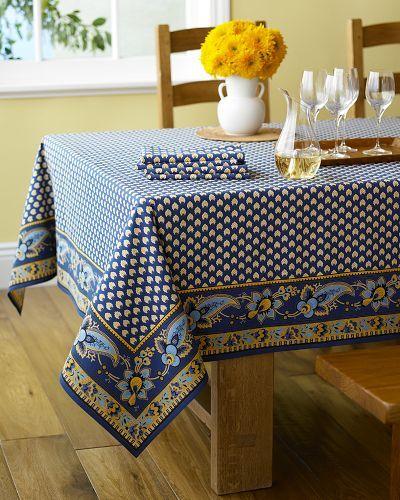 Marseille Tablecloths, Navy