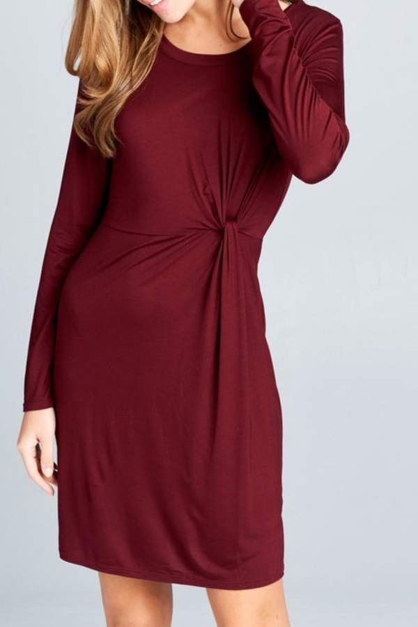 vanilla bay Knotted Drape Dress