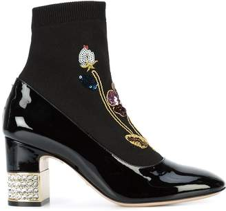 Gucci 'Candy' embroided ankle boots