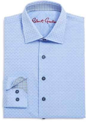 Robert Graham Boys' Tonal Geo Print Dress Shirt - Sizes S-XL $79.99 thestylecure.com