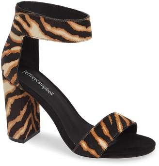 Jeffrey Campbell Lindsay Genuine Calf Hair Ankle Strap Sandal