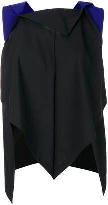Issey Miyake 132 5. asymmetric sleeveless blouse