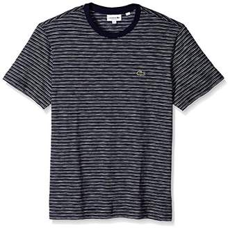 Lacoste Men's Short Sleeve Jersey Jacquard Regular Fit T-Shirt