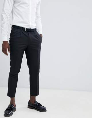 Asos DESIGN cigarette suit pants in black