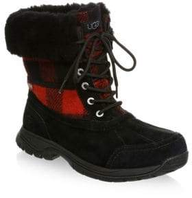 UGG Butte Waterproof Buffalo Check Winter Boots