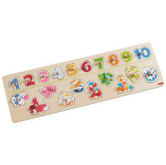 Haba Clutching Puzzle Animals By Number - 20 Piece