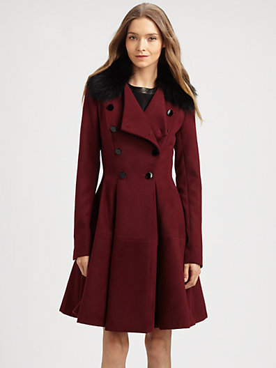 Robert Rodriguez Fit & Flare Coat
