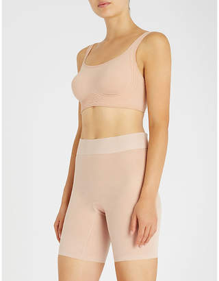 Wolford Signature Skin cropped stretch-cotton bra