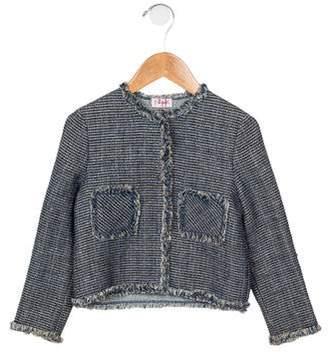 Il Gufo Girls' Metallic Tweed Jacket