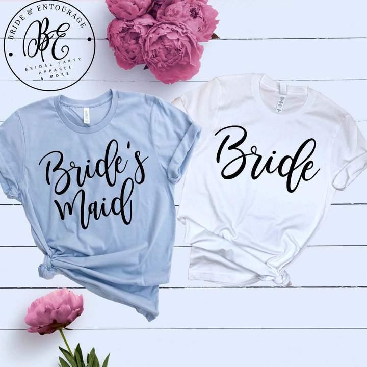 Etsy Bride T-Shirt - Bridal Party Tees - Bridesmaid Proposal Shirts - Maid of Honor - Mother of The Bride