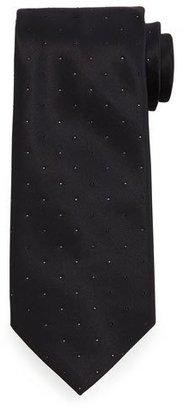 Stefano Ricci Crystal-Embellished Silk Tie, Black $395 thestylecure.com
