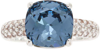CITY ROCKS City Rocks Womens Blue Square Cocktail Ring