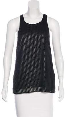 Intermix Sleeveless Patterned Top