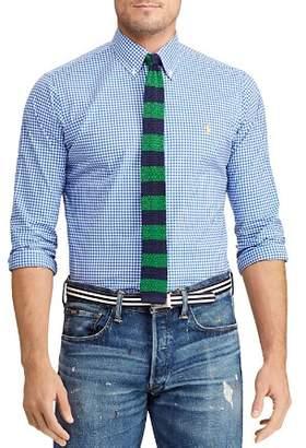 Polo Ralph Lauren Gingham Slim Fit Button-Down Poplin Shirt