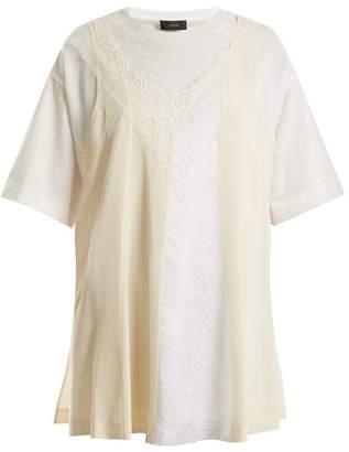 Joseph Overlay Detail Cotton T Shirt - Womens - White