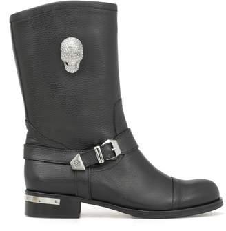 Philipp Plein Boots Mid Flat Ouzinkie