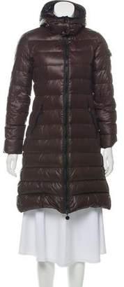 Moncler Moka Knee-Length Down Coat