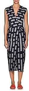 Zero Maria Cornejo Women's Kaia Cotton-Blend Wrap Dress-Navy