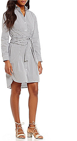 DKNY DKNY Pin Striped Shirt Dress