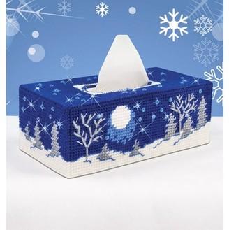 "Mary Maxim Plastic Canvas Tissue Box Kit 4.5""X9""X3.5""-Starry Night (7 Count)"