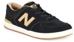 New Balance Two-Tone Logo Sneakers