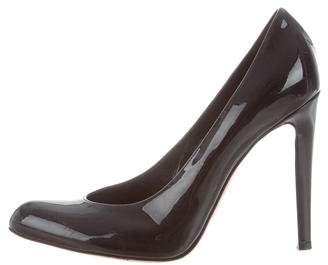 Gianvito Rossi Patent Leather Pointed-Toe Pumps