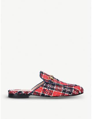 Gucci Princetown tweed slippers
