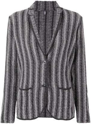 Eleventy striped knitted blazer
