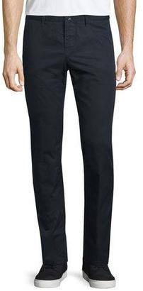 Burberry Flat-Front Cotton Chino Pants, Indigo $195 thestylecure.com