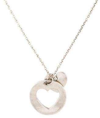 Tiffany & Co. Double Heart Cutout Pendant Necklace
