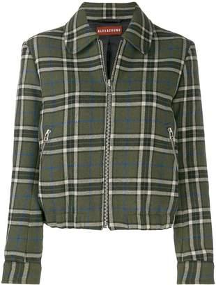ALEXACHUNG Alexa Chung zip-up check jacket