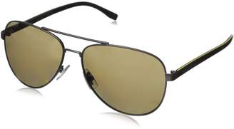 HUGO BOSS BOSS by Men's B0761s Polarized Aviator Sunglasses