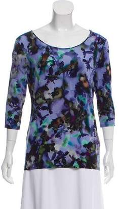 Marc Cain Printed Scoop Neck Top
