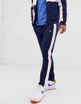 co-ord side stripe track joggers in navy