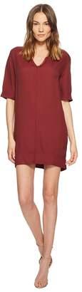 Manila Grace Short Sleeve V-Neck Dress