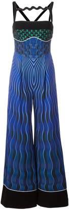 Mary Katrantzou Snuffbox print 'Moss' jumpsuit