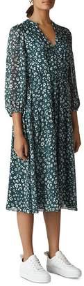 Whistles Adrianne Cheetah-Print Dress
