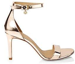 38f80f870 Tory Burch Women s Ellie Metallic Leather Ankle-Strap Sandals