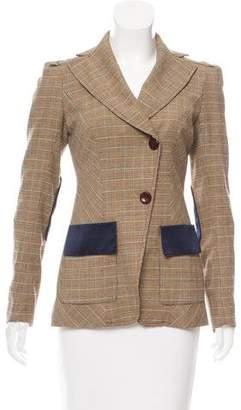 Diane von Furstenberg Funny Cide Houndstooth Knit Blazer