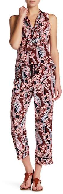 Trina Turk Berta Floral Silk Pant
