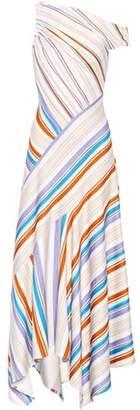 Peter Pilotto Striped one-shoulder maxi dress