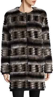 Yves Salomon Women's Quilted Rex Rabbit Fur Coat