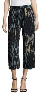 Fuzzi Abstract Print Cropped Pants $470 thestylecure.com