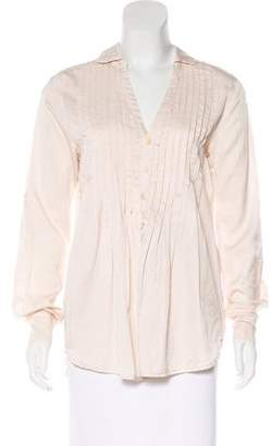 Cp Shades Button-Up Long Sleeve Top