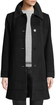 Fleurette Wool-Blend Fitted Coat