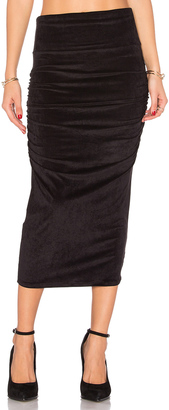 James Perse Velvet Midi Skirt $175 thestylecure.com