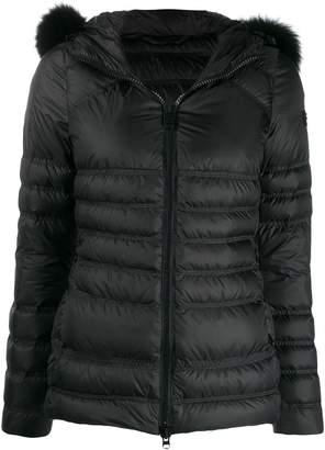 Peuterey fox fur hooded puffer jacket