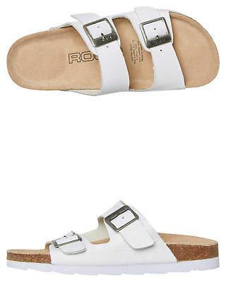New Roc Boots Australia Women's Womens Bermuda Sandal Rubber Leather White
