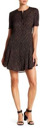 A.L.C. Aerin Silk BUtton Down Short Sleeve Dress