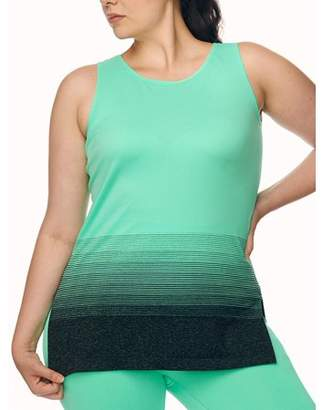 Under Control Women's Plus Size Active Tunic Tank with Ombre Graphic